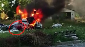 Bystander Captures Moment A Boy Escapes Fiery Plane Crash