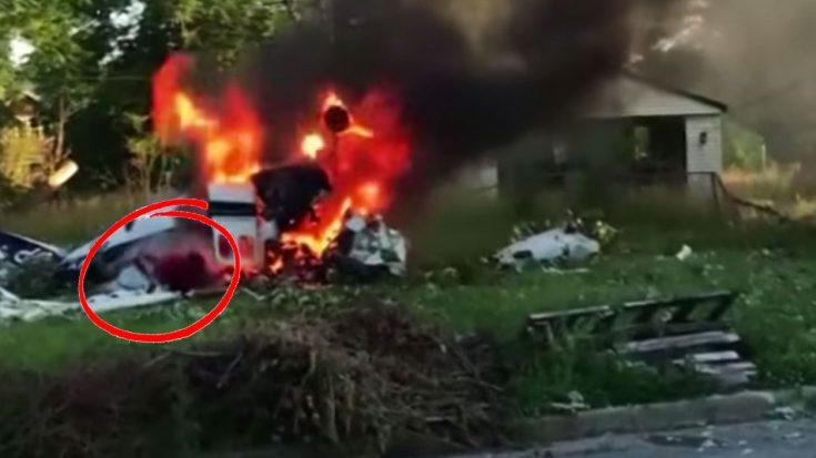 Bystander Captures Moment A Boy Escapes Fiery Plane Crash   World War Wings Videos