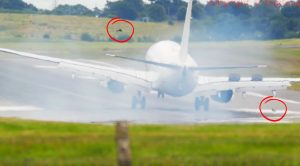 A Plane Just Made An Emergency Landing As Debris Exploded From Main Gear