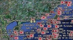 This Map Of All Sunken Japanese Ships During WWII Is Absolutely Mind-blowing