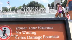 People Still Dip In WWII Memorial Pool And It Gets Even Worse