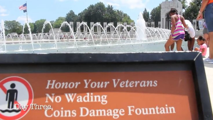 People Still Dip In WWII Memorial Pool And It Gets Even Worse | World War Wings Videos