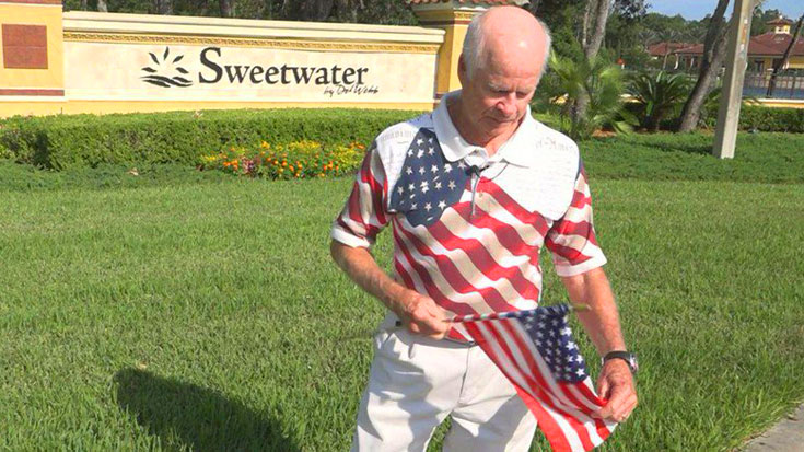 US Air Force Veteran Loses Home For Displaying American Flag – But He's Fighting Back | World War Wings Videos