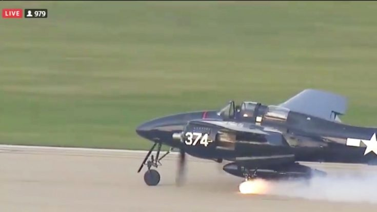 F7F Tigercat Loses Wheel On Landing   World War Wings Videos