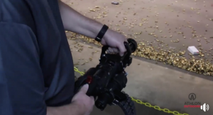 He Brings Suitcase-Sized Minigun to the Indoor Shooting Range