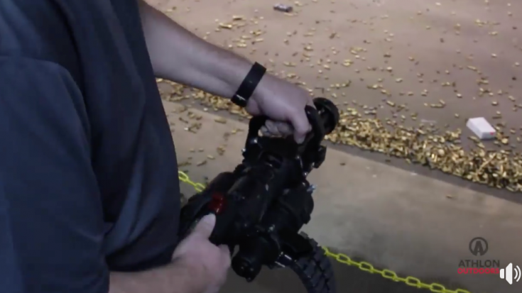 He Brings Suitcase-Sized Minigun to the Indoor Shooting Range | World War Wings Videos
