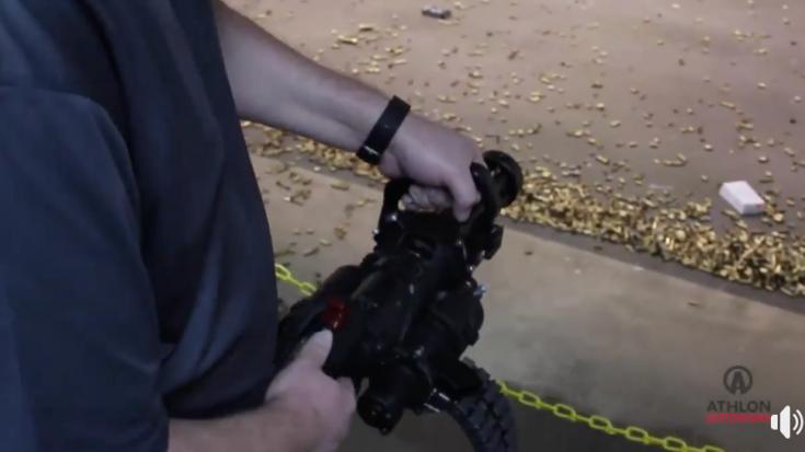 He Brings Suitcase-Sized Minigun to the Indoor Shooting Range