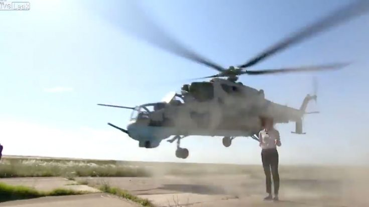 Reporter Gets Way Too Close (Like Too Too Close) To Chopper In This Clip | World War Wings Videos