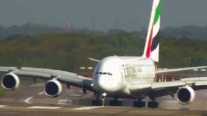 Gigantic A380 Barely Nails Dangerous Crosswind Landing