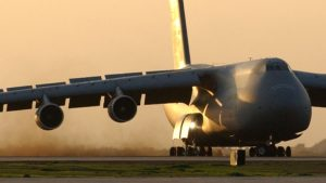 Gigantic C-5 Ends Up On Short Field, Now Has To Take Off
