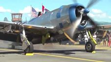 The Meanest P-47 Thunderbolt Startup You'll Hear- It's a Beast