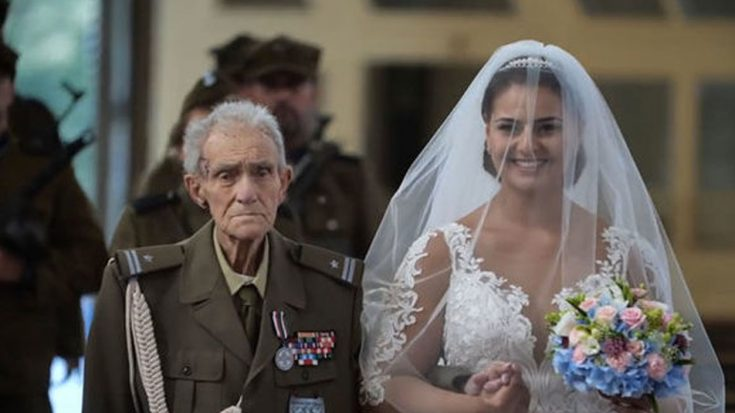 WWII Vet Just Walked Granddaughter Down Aisle And Passed 2 Days Later | World War Wings Videos