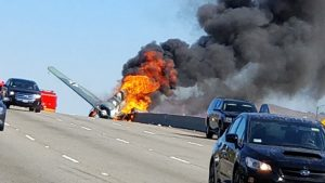 Vintage Warbird Just Crashed On Busy California Freeway