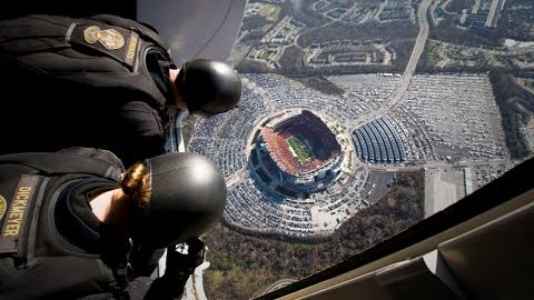 Insane Navy SEALS' Parachute Jump Into Football Game | World War Wings Videos