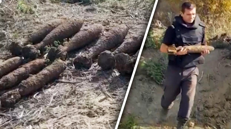 Construction Crews Accidentally Uncover Massive WWII Bomb Stockpile | World War Wings Videos