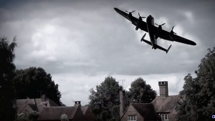 This Is How Intimidating A Lancaster Sounds When Swooping Over A Village | World War Wings Videos