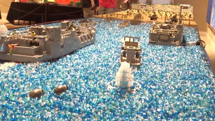 Incredible Look At A 24-Ft. Lego D-Day Diorama That's Out Of This World | World War Wings Videos
