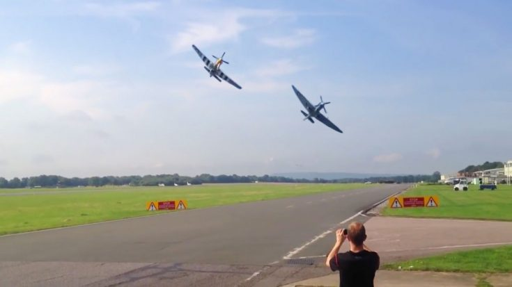 And There You Have It. The Best Spitfire and Mustang Flyby Ever Recorded | World War Wings Videos