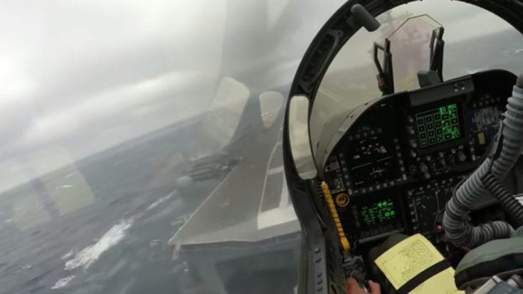 Impressive Bad Weather F/A-18 Super Hornet Carrier Landing | World War Wings Videos