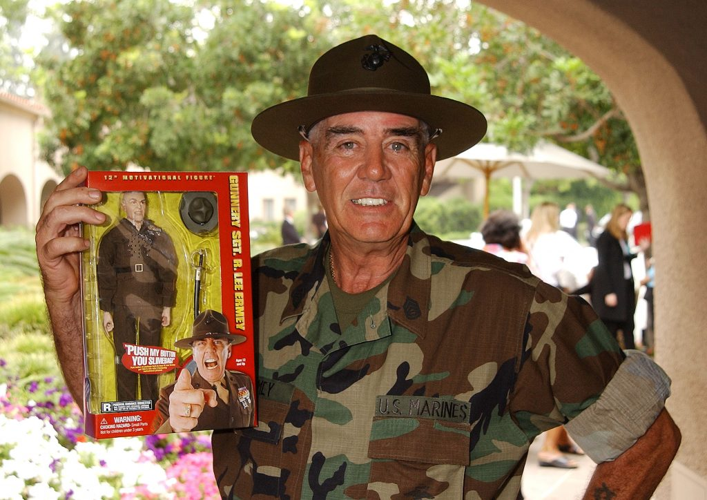 full metal jacket actor and marine vet r lee ermey just. Black Bedroom Furniture Sets. Home Design Ideas