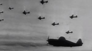 WWII Dog Fight Footage- Thunderbolts and BF-109s Go At It