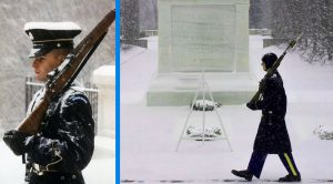 As 75% Of U.S. Is Frozen, The Guards At The Tomb Of The Unknowns Aren't Fazed