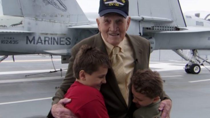 You've Never Seen Boys This Thrilled To Meet A WWII Veteran | World War Wings Videos