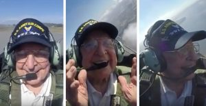 This WWII Pilot Finally Gets To Fly In A Mustang And Can't Contain His Joy