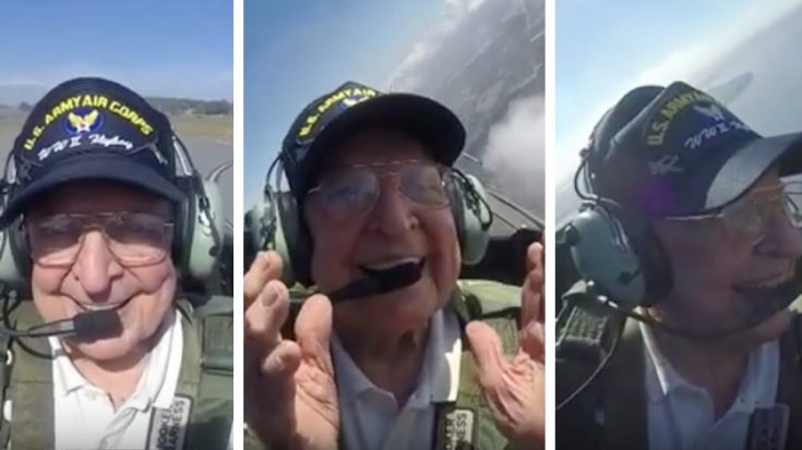 This WWII Pilot Finally Gets To Fly In A Mustang And Can't Contain His Joy | World War Wings Videos