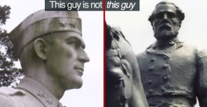 Statue Of WWII Hero Burned By Vandals Who Thought It Was Someone Else