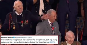 Who Were The 3 WWII Veterans Honored At The State Of The Union Address?