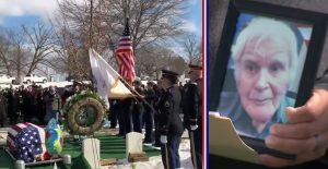 Hundreds Spent Valentine's Day At A WWII Veteran's Funeral