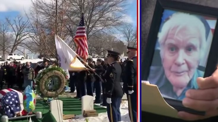 Hundreds Spent Valentine's Day At A WWII Veteran's Funeral | World War Wings Videos