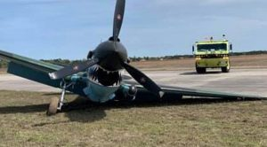 Last Weekend's P-40 Crash Leaves Airframe Crippled
