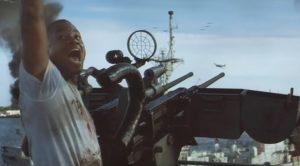 Cuba Gooding Jr. Takes Out Zeros With .50 Cal Machine Guns
