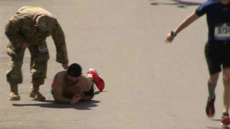 Marine Vet Crawls To Finish Boston Marathon In Honor Of Fallen Brothers | World War Wings Videos