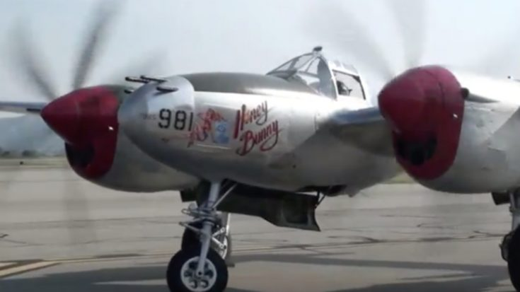 "P-38 ""Honey Bunny"" Start-Up and Taxi 
