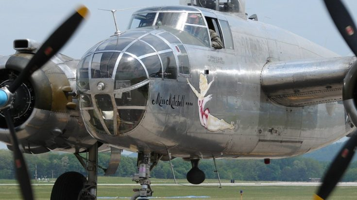"""B-25 """"Miss Mitchell"""" Hot Bottle Start Up And Take-Off – Loud and Glorious 