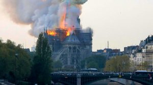 LIVE | Notre-Dame, Which Marked End Of WWII, Is Currently On Fire