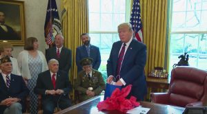 POTUS Delivers On Promise – Hosts WWII Vet For 95th Birthday