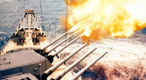 After Getting Hit, USS Wisconsin Obliterated Troops Prompting Response Of, 'Temper, Temper.""