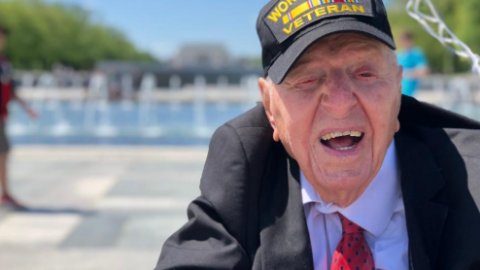 "100-Year Old  Veteran Is Out To Make Sure You Honor Our Remaining WWII Heroes Through His ""No Regrets"" Tour 