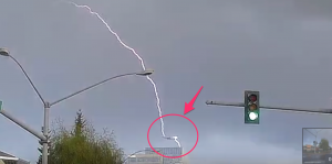 Plane Gets Struck By Lightning- Caught On Video