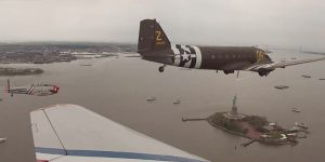 WWII Warbirds Flying Over The Statue Of Liberty Is The Perfect Homage To Our Freedom