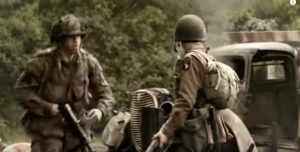 Band of Brothers: Convoy Ambush on D-Day Scene- Intense Moment
