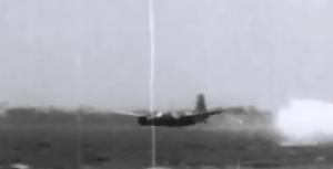 Douglas A-26C Breaks Apart Mid-Air Testing A Bouncing Bomb
