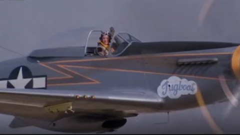 Empire of the Sun P-51 Mustang Cadillac of the Sky Scene