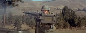 Audie Murphy Repels German Attack With Tank .50 Cal