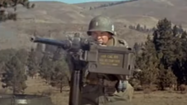 Audie Murphy Repels German Attack With Tank .50 Cal | World War Wings Videos