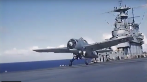 Battle of Midway Footage from Onboard USS Yorktown | World War Wings Videos